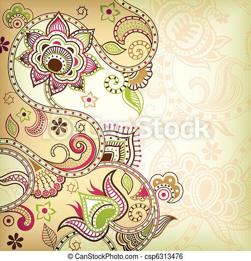 Fondo floral de Asia - csp6313476