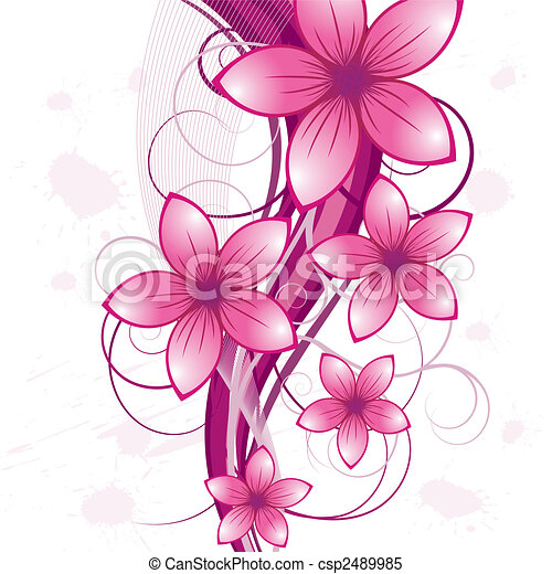 floral background - csp2489985