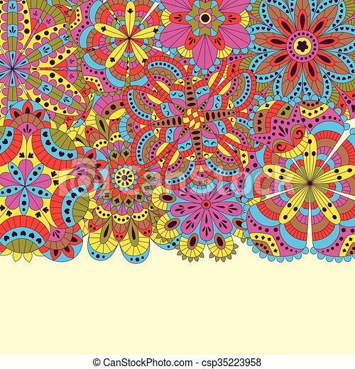 Floral Background Made Of Many Mandalas Good For Weddings Invitation Cards Birthdays Etc Creative Hand Drawn Elements Vector Illustration