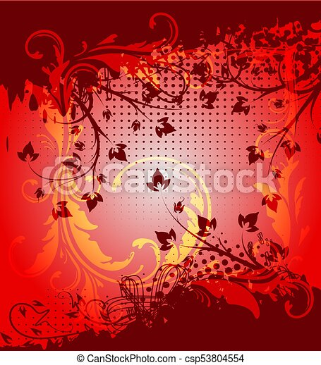 Floral background. - csp53804554