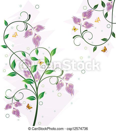 Floral background design - csp12574736