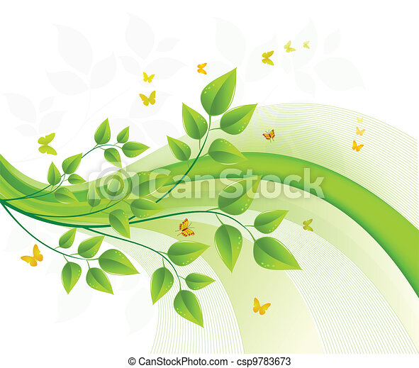 Floral background design - csp9783673