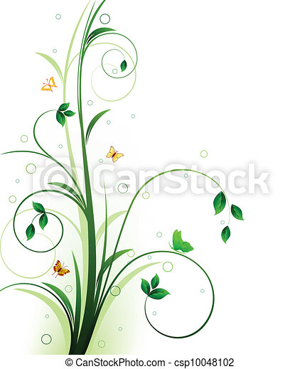Floral background design - csp10048102