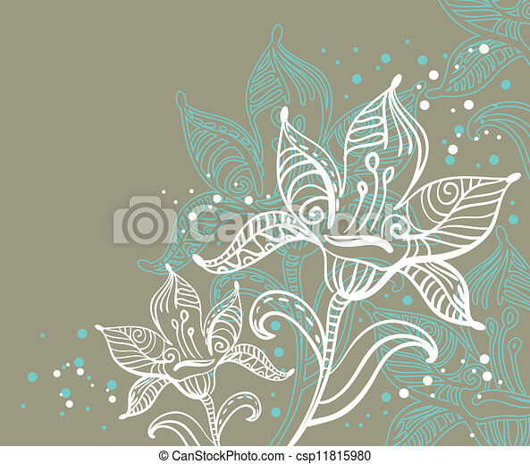 Floral background - csp11815980