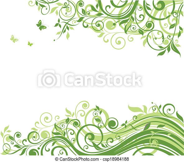 Floral background - csp18984188