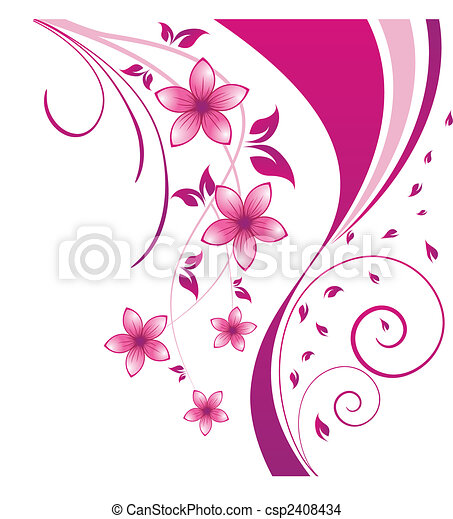 floral background - csp2408434