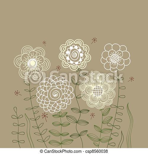 Floral background - csp8560038