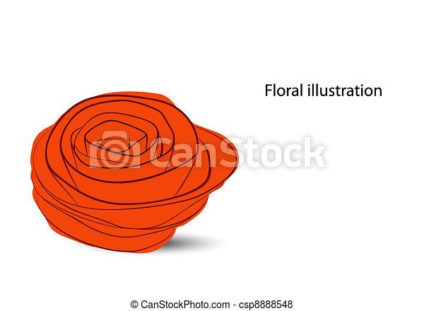Floral background - csp8888548