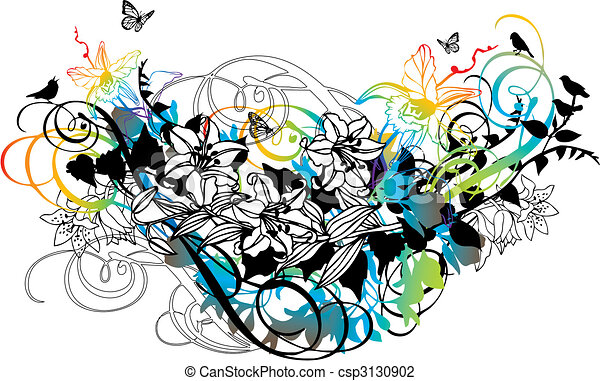 floral background - csp3130902