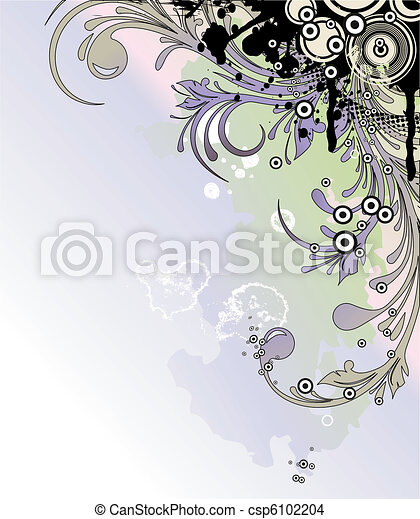Floral background in pastels - csp6102204