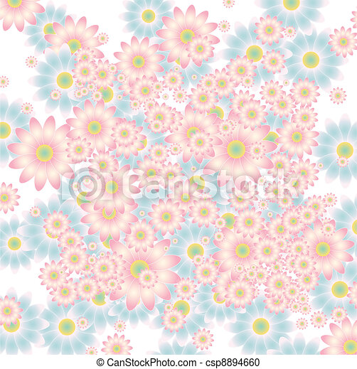 floral background in soft colors - csp8894660