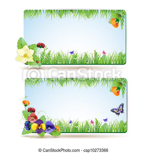 Floral background, rainbow - csp10273366