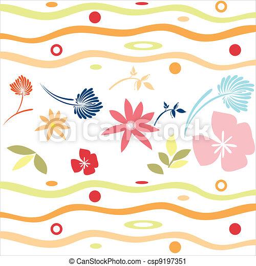 Floral background - csp9197351