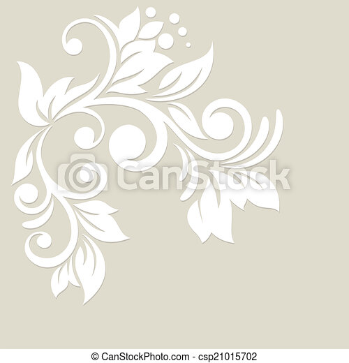 Floral background. Wedding card or invitation - csp21015702
