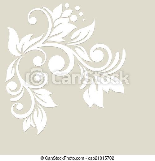 Floral background. Wedding card or invitation - csp21015702