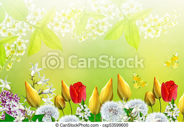 Floral background with bright spring flowers mightylinksfo