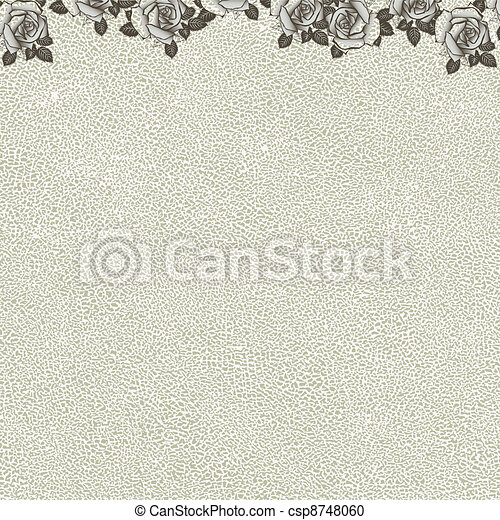 floral background with grunge text - csp8748060