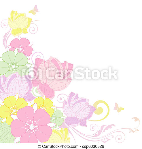 floral background with lotus - csp6030526