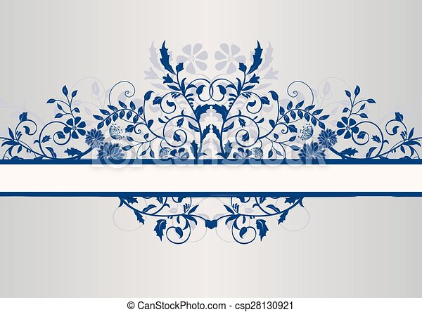Floral background with place for text - csp28130921