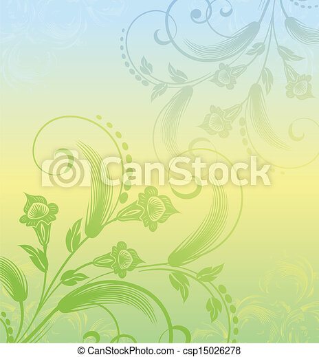 floral background with plants - csp15026278