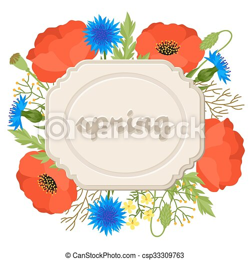 Floral background with pretty spring flowers template for floral background with pretty spring flowers template for invitation and greeting cards mightylinksfo