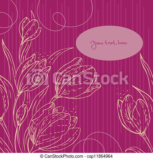 Floral background with tulips - csp11864964