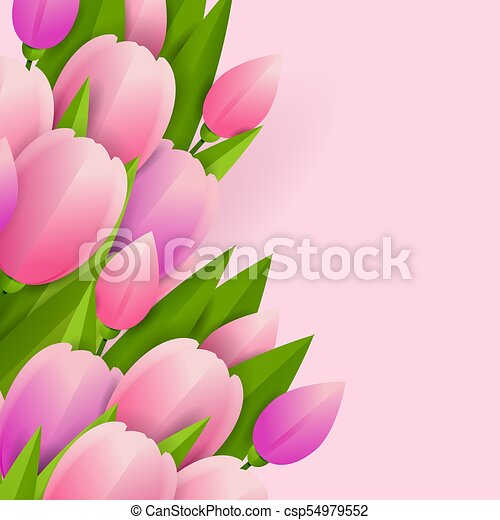 Floral background with tulips - csp54979552