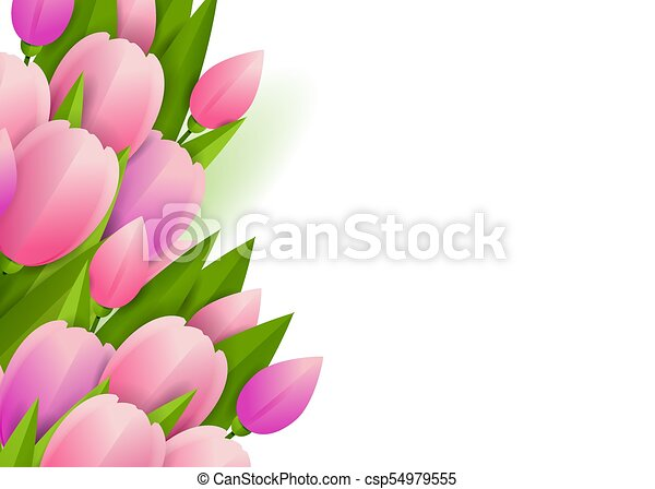 Floral background with tulips - csp54979555