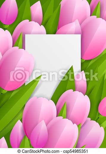 Floral background with tulips - csp54985351