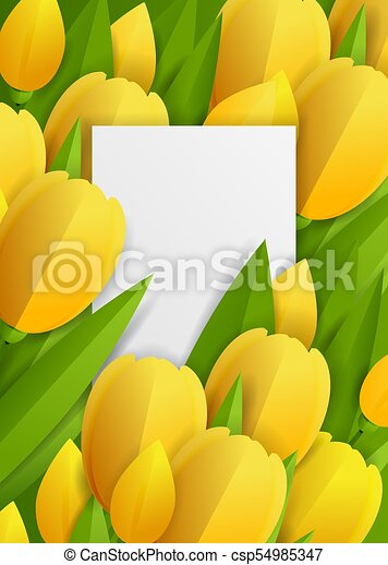 Floral background with tulips - csp54985347