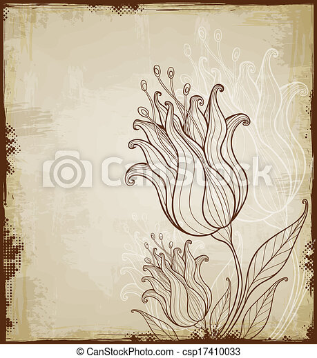 Floral background with tulips - csp17410033