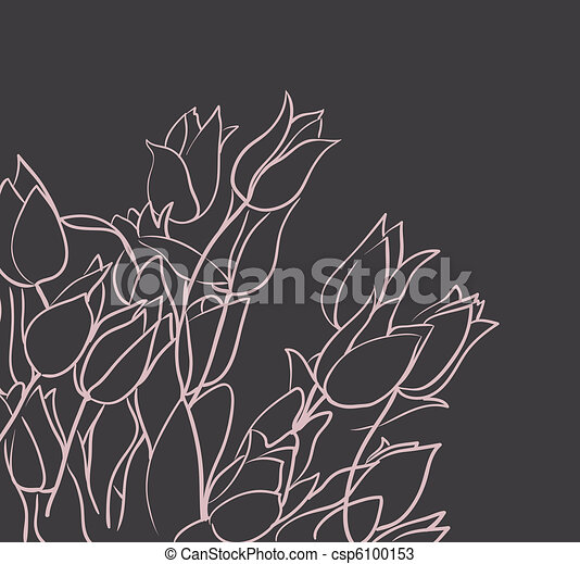 floral background with tulips - csp6100153