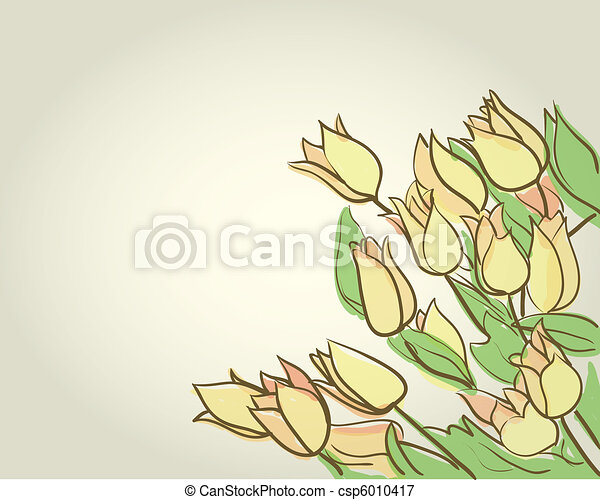 floral background with tulips - csp6010417
