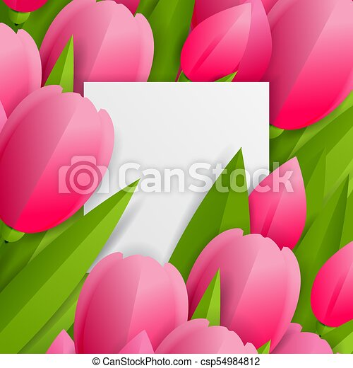 Floral background with tulips - csp54984812