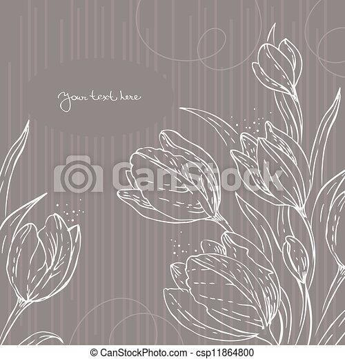 Floral background with tulips - csp11864800