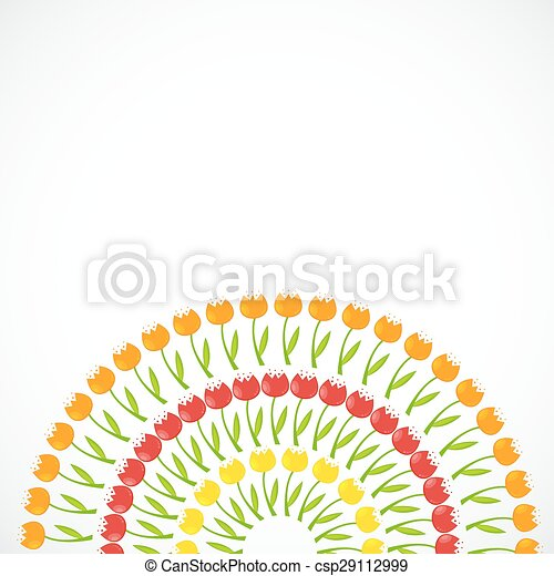 Floral Background with Tulips Vector Illustration - csp29112999