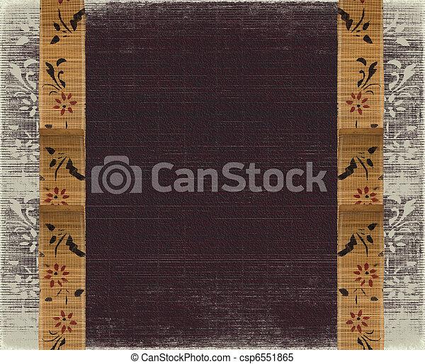 Floral bamboo banner frame  - csp6551865