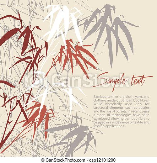 floral, bamboo., fundo - csp12101200