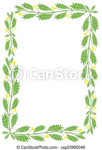 Floral border.  - csp23980049