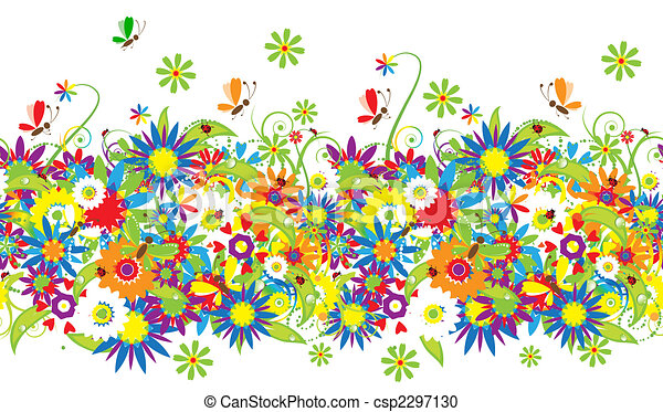 Floral bouquet, summer illustration - csp2297130