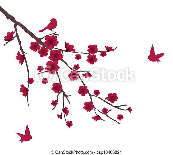 floral branch - csp18406824