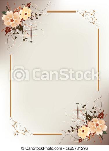 floral, cadre, artistique - csp5731296