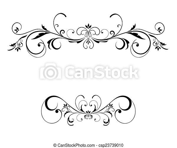 floral, cadre, mariage - csp23739010