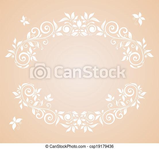 floral, cadre, mariage - csp19179436