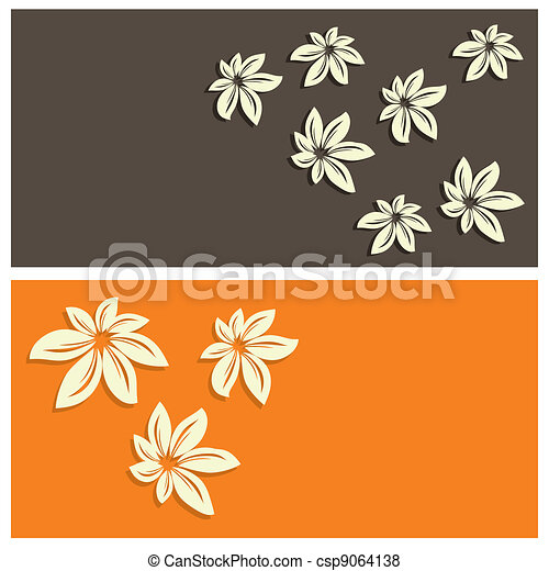 floral card background - csp9064138