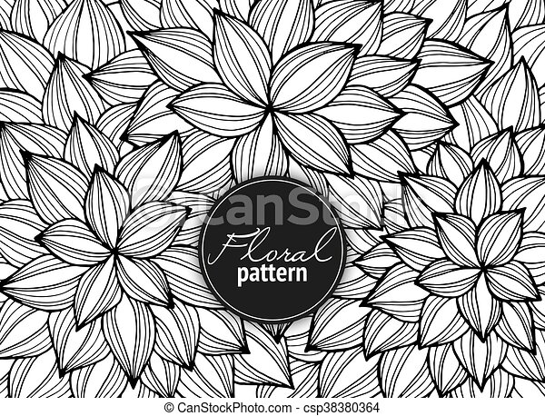 Line Art Design Abstract : Floral card hand drawn artwork with abstract flowers clip art