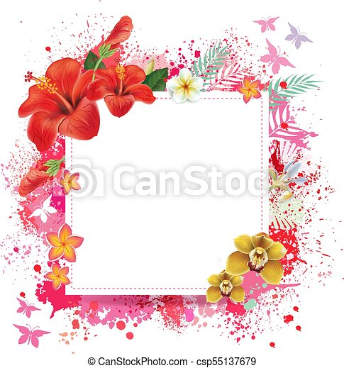Floral Card With Place For Text