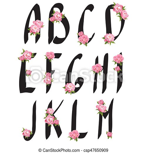Letras inglesas - csp47650909