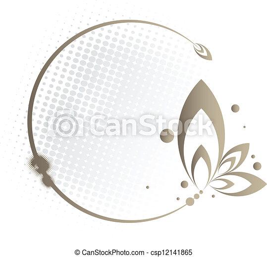 Floral Circle Frame - csp12141865