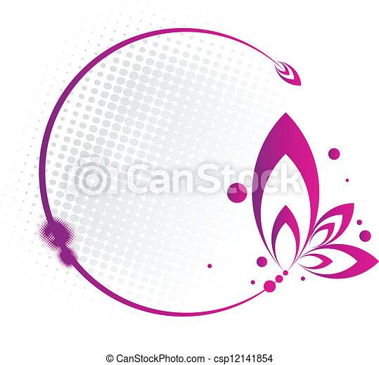 Floral Circle Frame - csp12141854